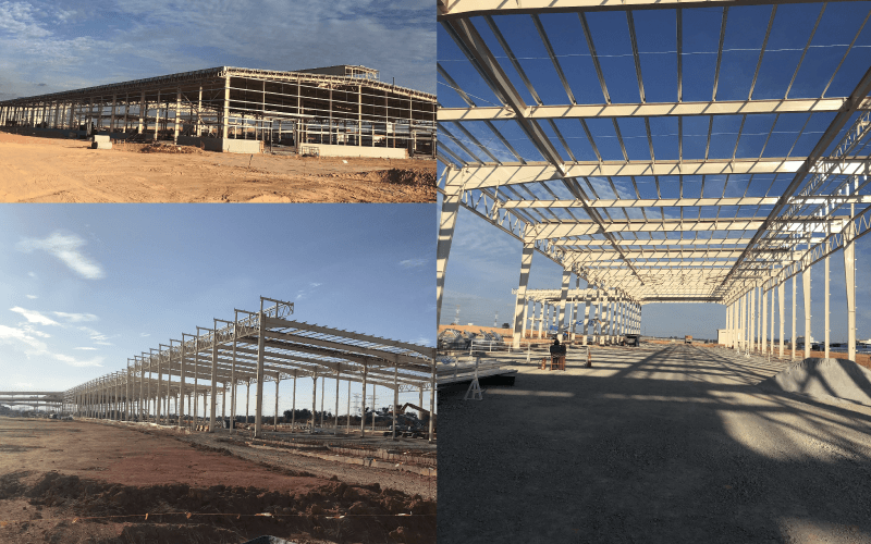 Team site visit shows build progress